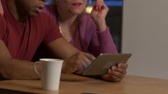 Baby Boomer with Tablet Computer - Middle Aged Models - stock footage