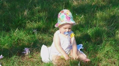 Eight month baby girl Stock Footage