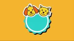 domestic animals design, Video Animation - stock footage