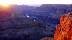 Stock Video Footage of Awesome view over Grand Canyon in the evening in 4k