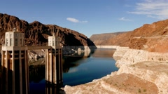 The Hoover Dam - one of the world wonders Stock Footage