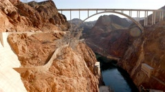 Huge Hoover Dam Bypass Mike O'Callaghan-Pat Tillman Memorial Bridge in 4k - stock footage