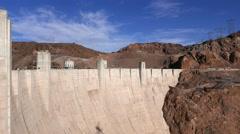 Impressive Hoover Dam in Nevada in 4k - stock footage