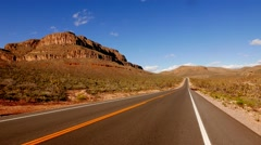 Long and empty road in south-west USA, Nevada in 4k. - stock footage