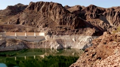The desert around Hoover Dam, Nevada in 4k - stock footage