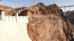 Hoover Dam with Mike O'Callaghan-Pat Tillman Memorial Bridge in 4k - stock footage