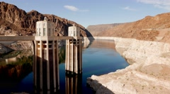 Hoover Dam on a sunny day Stock Footage