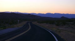 Stock Video Footage of Empty road to Grand Canyon in the Arizona desert.