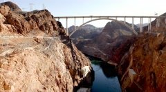 Impressive Mike O'Callaghan-Pat Tillman Memorial Bridge - Hoover Dam bypass - stock footage