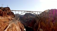 Mike O'Callaghan-Pat Tillman Memorial Bridge - Hoover Dam bypass in 4k - stock footage