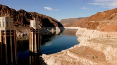 Beautiful wide angle shot of Hoover Dam in 4k - stock footage