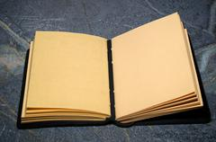 open sketchbook journal - stock photo