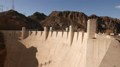 Impressive wall of Hoover Dam in 4k - stock footage