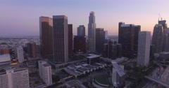 Panning Away Downtown Los Angeles Stock Footage