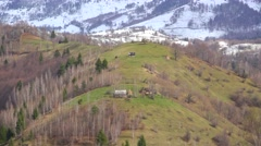 End of winter, mountain landscape Stock Footage