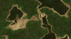 4K Satellite View of Wild Nature Area 1 - stock footage