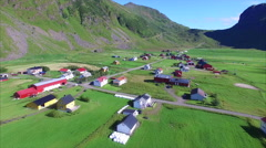 Sand beach on Lofoten islands, Norway, aerial view Stock Footage