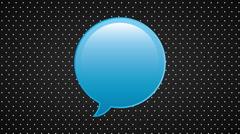 Talk box icon, Video Animation Stock Footage