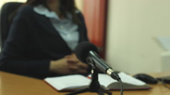 Interview of a business Woman,Business  Stock Footage