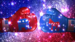 Election Boxing Gloves Explosion 4K Stock Footage
