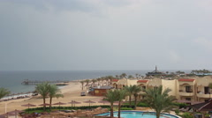 Storm in a hotel near the beach in Egypt Stock Footage