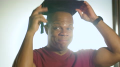 It's never too late - Adult Education and graduation. Stock Footage