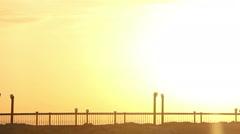 Egyptian Bridge at dawn, background, bridge at sunset Stock Footage