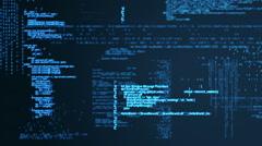 Digital animation of matrix Stock Footage