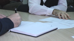 Office business meeting paper documents  - stock footage