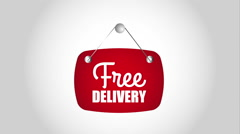 Free delivery design,  Video Animation Stock Footage