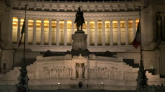 Victor emmanuel ii monument night close up Stock Footage