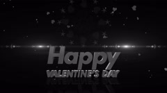 Happy valentines day 4K colorless Stock Footage