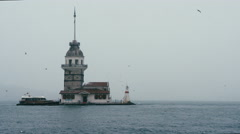Maiden's Tower (Kız Kulesi) 4k - stock footage