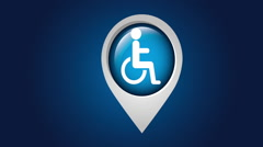 Disabled icon design, Video Animation Stock Footage