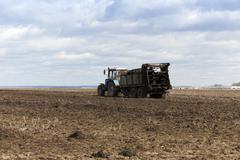 Fertilizer agricultural field Stock Photos