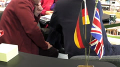 International partnership. German and British flags Stock Footage