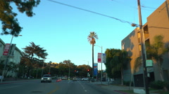 POV Driving Plate through City Streets in Los Angeles -Daytime- Stock Footage