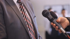Man Interview press media Stock Footage