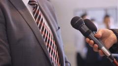 Man Interview press media - stock footage