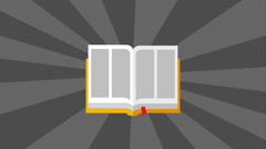 Book icon design, Video Animation Stock Footage
