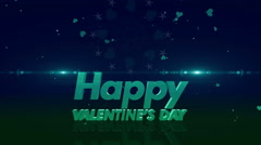 Happy valentines day 4K green - stock footage