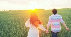 Romance at Dawn - stock footage