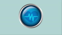 ButtoMedical icon design, Video Animation Stock Footage