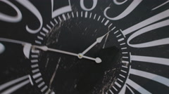 The dial blurrier arrows on the clock.  - stock footage