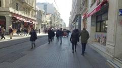Istiklal street, IStanbul, Turkey - stock footage