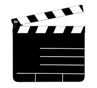 Empty clapperboard Stock Photos
