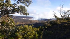 Halemaumau Crater, Kilauea Volcano, Hawaii Volcanos National Park, Island of Arkistovideo