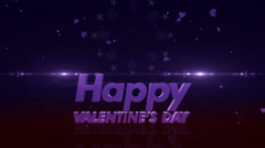 Happy valentines day 4K violet Stock Footage