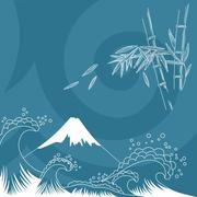 Japan style illustration - stock illustration