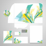 Lively Corporate Identity Vector - stock illustration